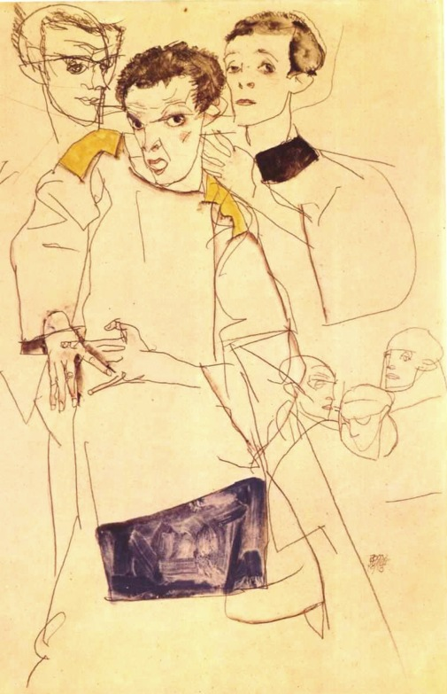 Egon Schiele, Autoritratto, 1913