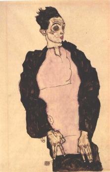 Egon Schiele, Autoritratto con camicia viola, 1914