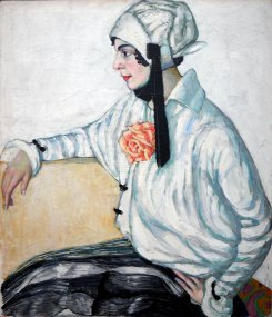 Konrad Mägi, Donna in bianco, 1915