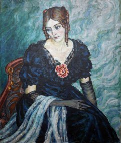 Konrad Mägi, Ritratto di Elvi Dailit, 1916-17