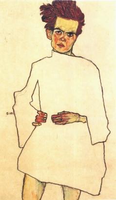 Egon Schiele, Autoritratto con camicia, 191o