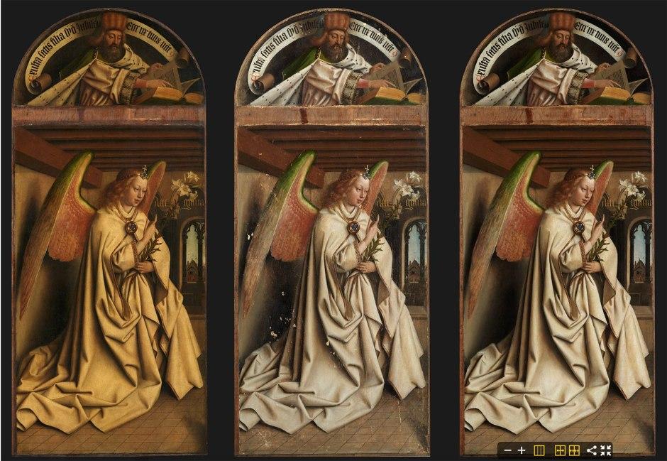 Hubert e Jan Van Eyck, Polittico dell'Agnello Mistico, Annunciazione
