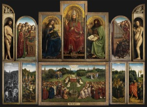 Hubert e Jan Van Eyck Polittico Agnello Mistico