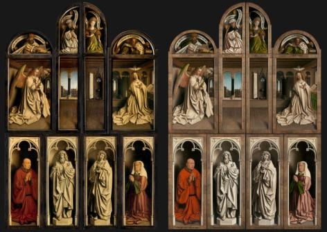 Hubert e Jan Van Eyck, Polittico Agnello Mistico