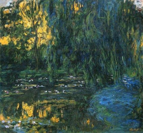Claude Monet, Stagno delle ninfee e salice piangente, 1916-19