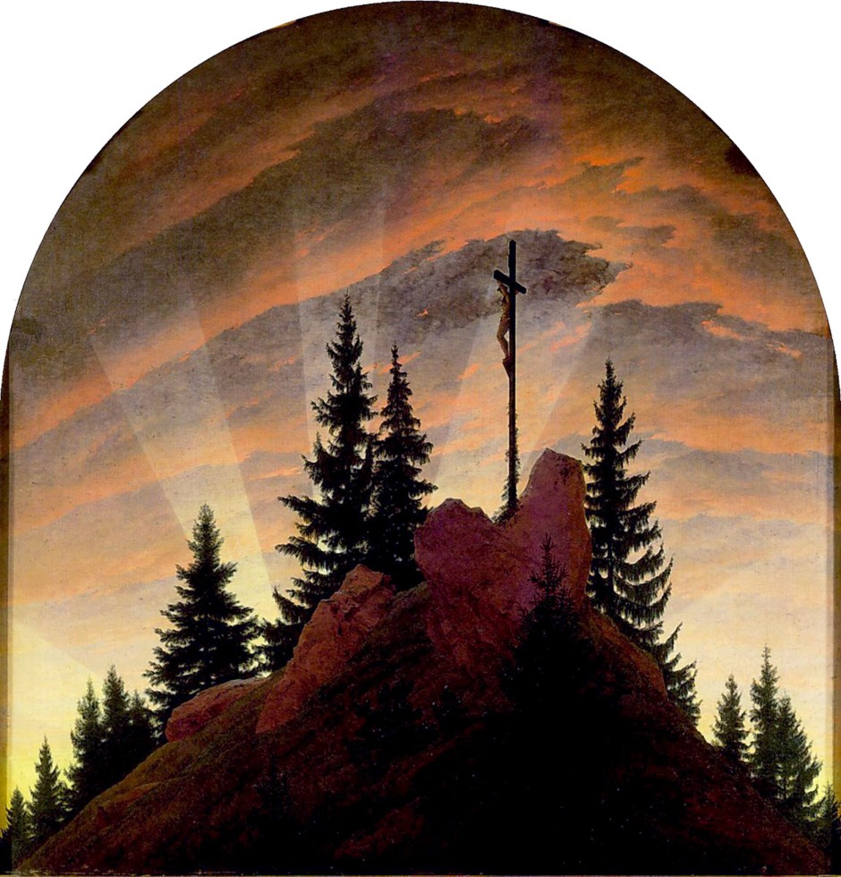 Caspar David Friedrich, Croce sui monti, 1807-08