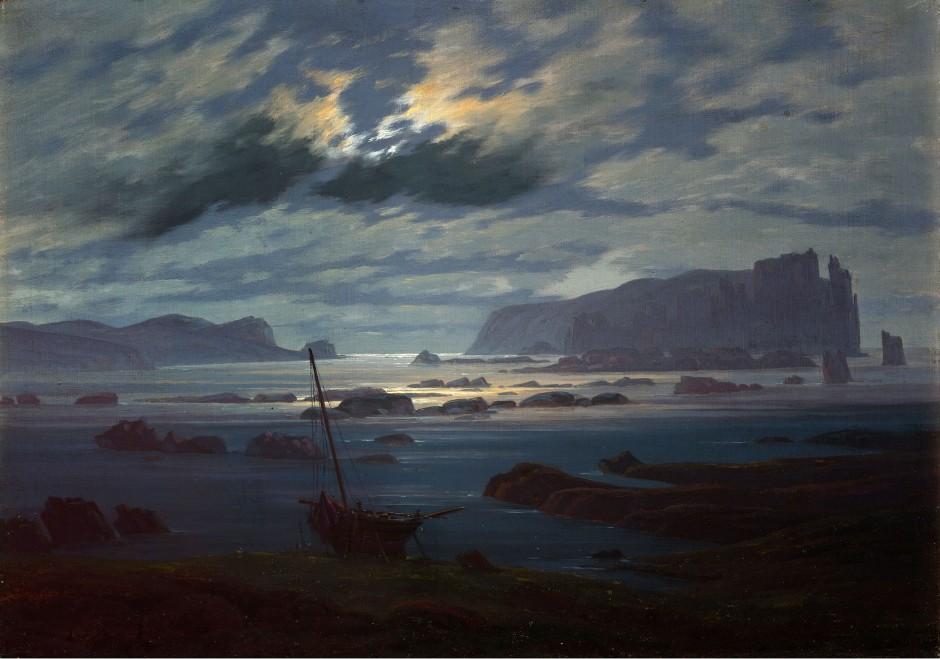 Caspar David Friedrich, Il Mare del Nord al chiaro di luna, 1823-24