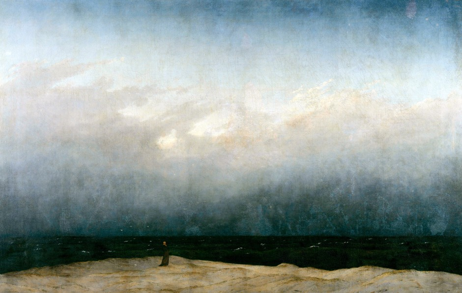 Caspar David Friedrich, Il monaco in riva al mare, 1808-10