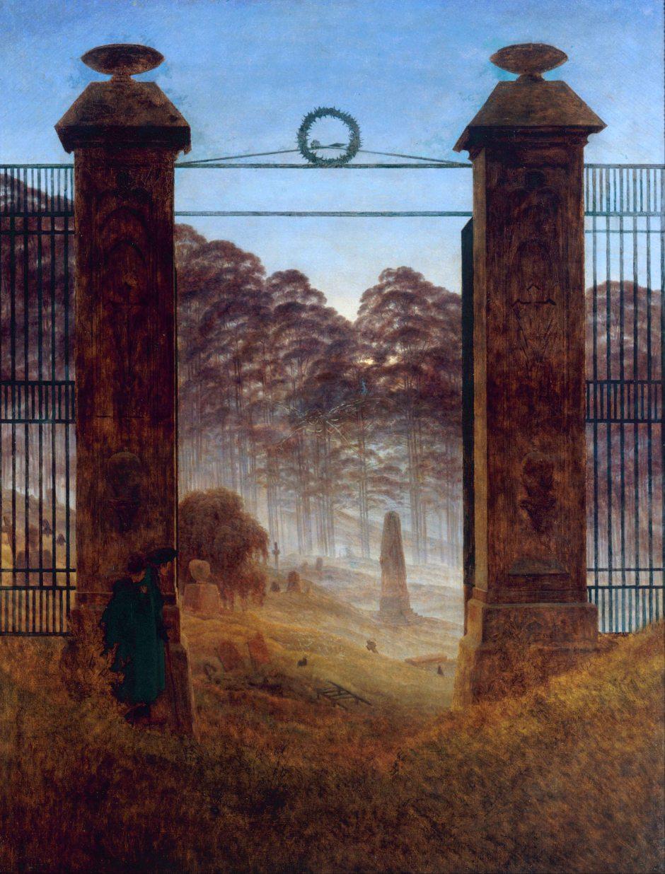 Caspar David Friedrich, L'entrata del cimitero, 1825