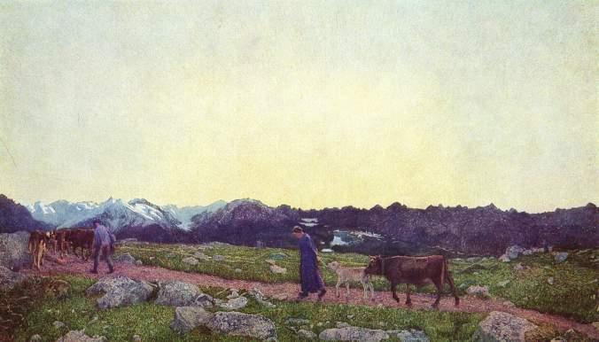 Giovanni Segantini, La natura, 1898-99