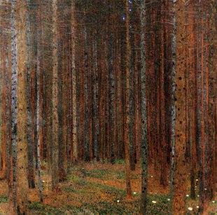 Gustav Klimt, Bosco di abeti, 1901