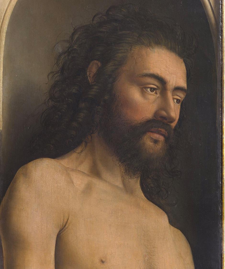 Jan Van Eyck, Polittico dell'Agnello mistico, Adamo, 1432