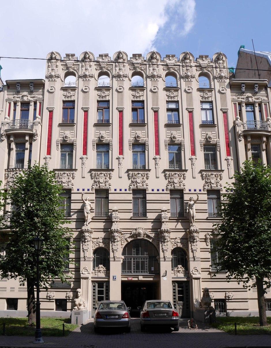 Michail Ėjzenštejn, Casa in Alberta iela 2a, Riga