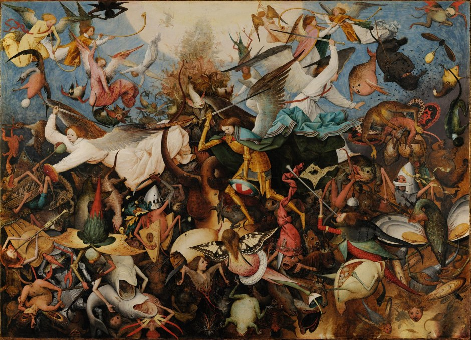 Pieter Bruegel il Vecchio, opera, Caduta degli angeli ribelli, Bruxelles