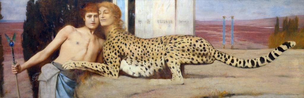 Fernand Khnopff, Carezze, 1896