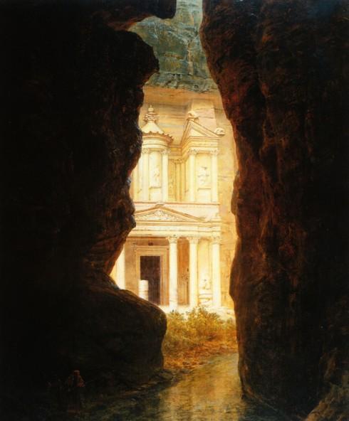 Frederic Edwin Church, El Khasné, Petra, 1874