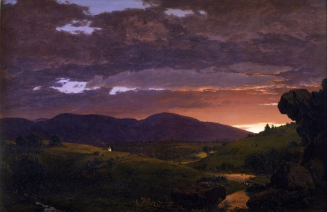 Frederic Edwin Church quadro romantico