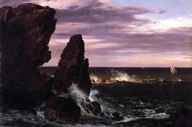Frederic Edwin Church Scena costiera quadro paesaggio
