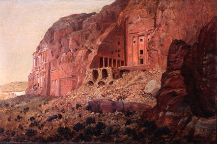 Frederic Edwin Church, The Urn Tomb, Silk Tomb and Corinthian Tomb, Petra, 1868