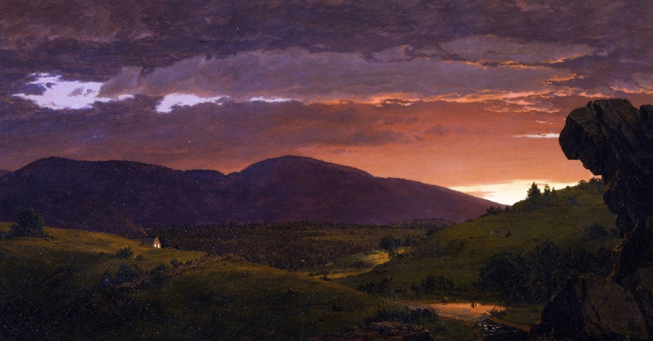 Frederic Edwin Church, Twilight, Short Arbiter 'Twixt Day and Night (Sunset), 1850-cut