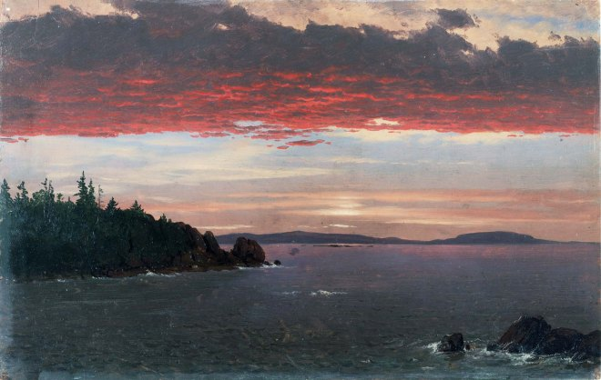Frederic Edwin Church, Penisola di Shoodic dal Mount Desert all'alba