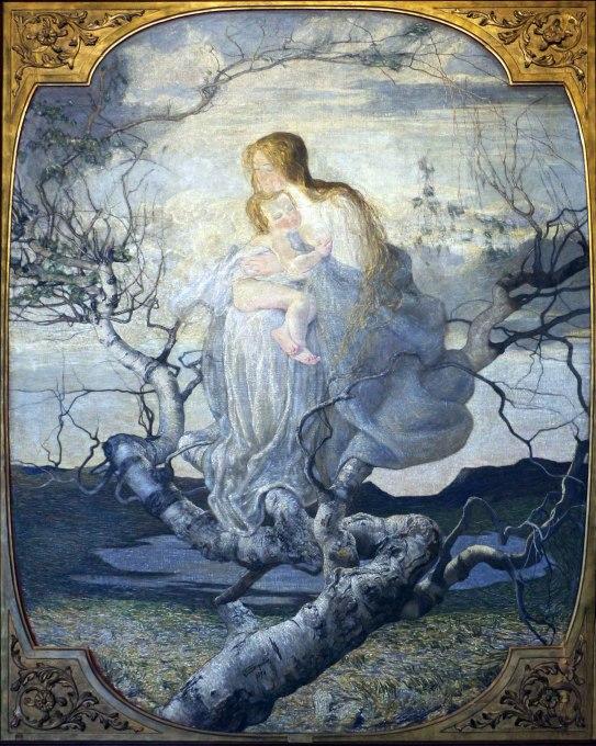 Segantini quadro L'angelo della vita
