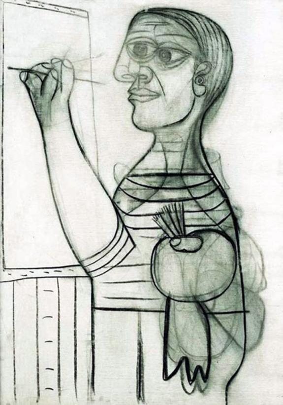Pablo Picasso, Autoritratto, 1938