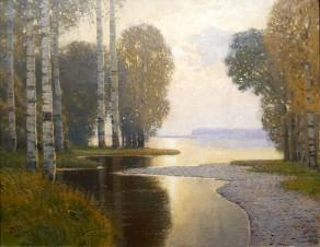 Vilhelms Purvītis, Paesaggio con betulle, 1910 circa