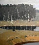 Vilhelms Purvītis, Paesaggio con fiume, 1910-dett