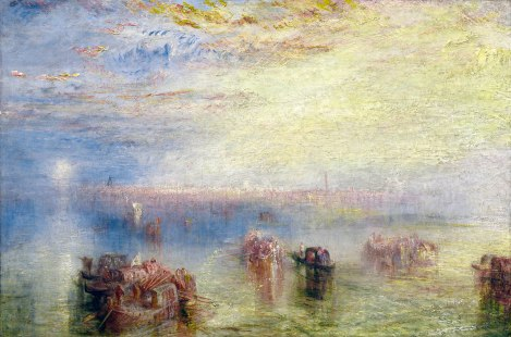 Joseph Mallord William Turner (British, 1775 - 1851 ), Approach to Venice, 1844, oil on canvas, Andrew W. Mellon Collection