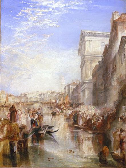 Joseph Mallord William Turner, Il Canal Grande, Una strada di Venezia, 1837