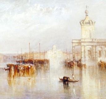 Joseph Mallord William Turner, La Dogana, San Giorgio, Zitelle, dai gradini dell'Hotel Europa, 1842 -part