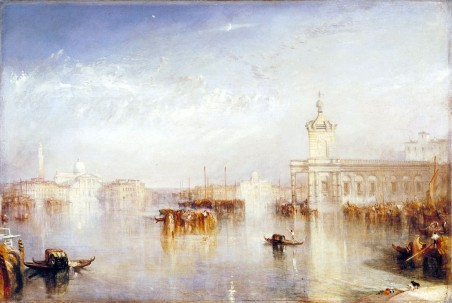 Joseph Mallord William Turner, La Dogana, San Giorgio, Zitelle, dai gradini dell'Hotel Europa, 1842