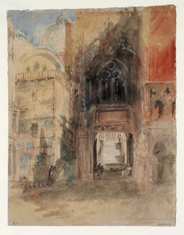 The Porta della Carta, Doge's Palace circa 1840 Joseph Mallord William Turner 1775-1851 Accepted by the nation as part of the Turner Bequest 1856 http://www.tate.org.uk/art/work/D32247