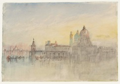 The Punta della Dogana and Santa Maria della Salute at Twilight, from the Hotel Europa 1840 Joseph Mallord William Turner 1775-1851 Accepted by the nation as part of the Turner Bequest 1856 http://www.tate.org.uk/art/work/D32166