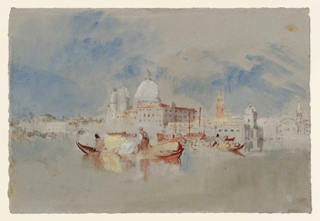 Boats in Front of the Dogana and Santa Maria della Salute 1840 Joseph Mallord William Turner 1775-1851 Accepted by the nation as part of the Turner Bequest 1856 http://www.tate.org.uk/art/work/D32206