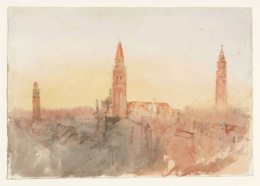 Venice: Looking North from the Hotel Europa, with the Campaniles of San Marco, San Moise and Santo Stefano 1840 Joseph Mallord William Turner 1775-1851 Accepted by the nation as part of the Turner Bequest 1856 http://www.tate.org.uk/art/work/D32140
