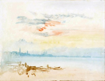 Venice: Looking East towards San Pietro di Castello - Early Morning 1819 Joseph Mallord William Turner 1775-1851 Accepted by the nation as part of the Turner Bequest 1856 http://www.tate.org.uk/art/work/D15255