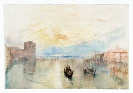 Venice: The Giudecca Canal, Looking towards Fusina at Sunset 1840 Joseph Mallord William Turner 1775-1851 Accepted by the nation as part of the Turner Bequest 1856 http://www.tate.org.uk/art/work/D32129