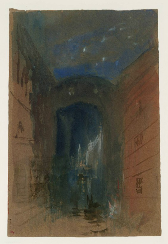 Venice: The Bridge of Sighs, Night 1840 Joseph Mallord William Turner 1775-1851 Accepted by the nation as part of the Turner Bequest 1856 http://www.tate.org.uk/art/work/D32253