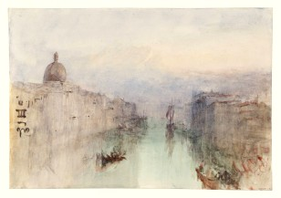 Venice: The Upper End of the Grand Canal, with San Simeone Piccolo; Dusk 1840 Joseph Mallord William Turner 1775-1851 Accepted by the nation as part of the Turner Bequest 1856 http://www.tate.org.uk/art/work/D32124