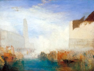 Venice, the Piazzetta with the Ceremony of the Doge Marrying the Sea c.1835 Joseph Mallord William Turner 1775-1851 Accepted by the nation as part of the Turner Bequest 1856 http://www.tate.org.uk/art/work/N04446