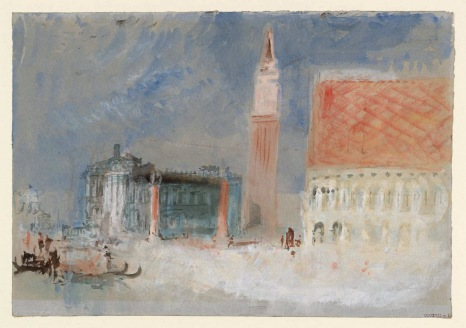 Venice: The Piazzetta and the Doge's Palace from the Bacino circa 1840 Joseph Mallord William Turner 1775-1851 Accepted by the nation as part of the Turner Bequest 1856 http://www.tate.org.uk/art/work/D32180