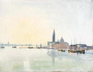 Venice: San Giorgio Maggiore - Early Morning 1819 Joseph Mallord William Turner 1775-1851 Accepted by the nation as part of the Turner Bequest 1856 http://www.tate.org.uk/art/work/D15254