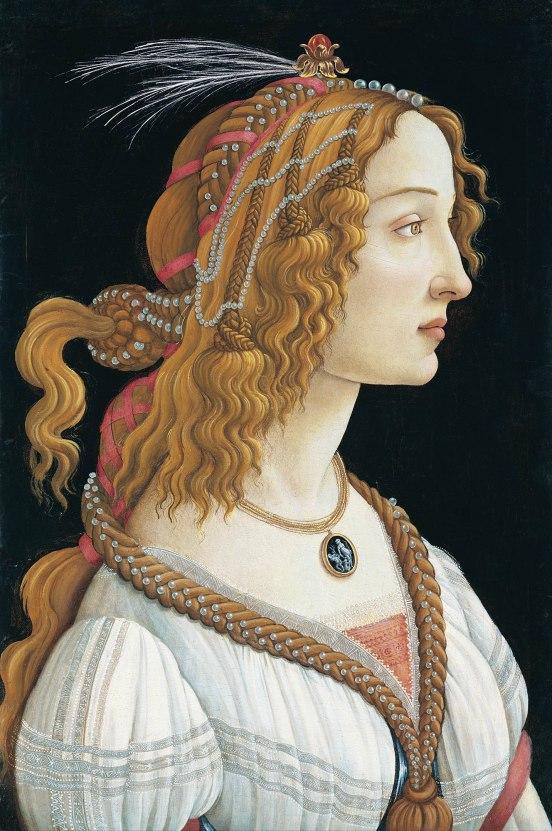 Sandro Botticelli, Ritratto ideale di Signora (Ritratto di Simonetta Vespucci come ninfa)