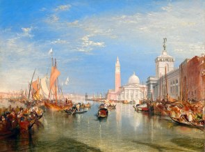 Joseph Mallord William Turner (British, 1775 - 1851 ), Venice: The Dogana and San Giorgio Maggiore, 1834, oil on canvas, Widener Collection