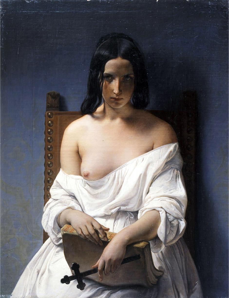 francesco hayez, meditazione, italia, 1848