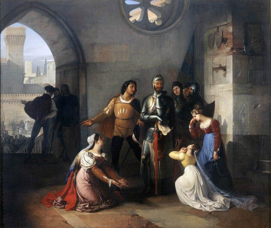 francesco hayez, pietro rossi prigioniero degli scaligeri, 1818-20
