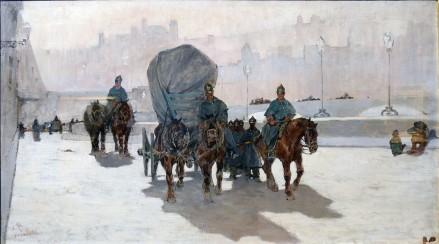 Giovanni Fattori, Artiglieria sul Lungarno, 1890