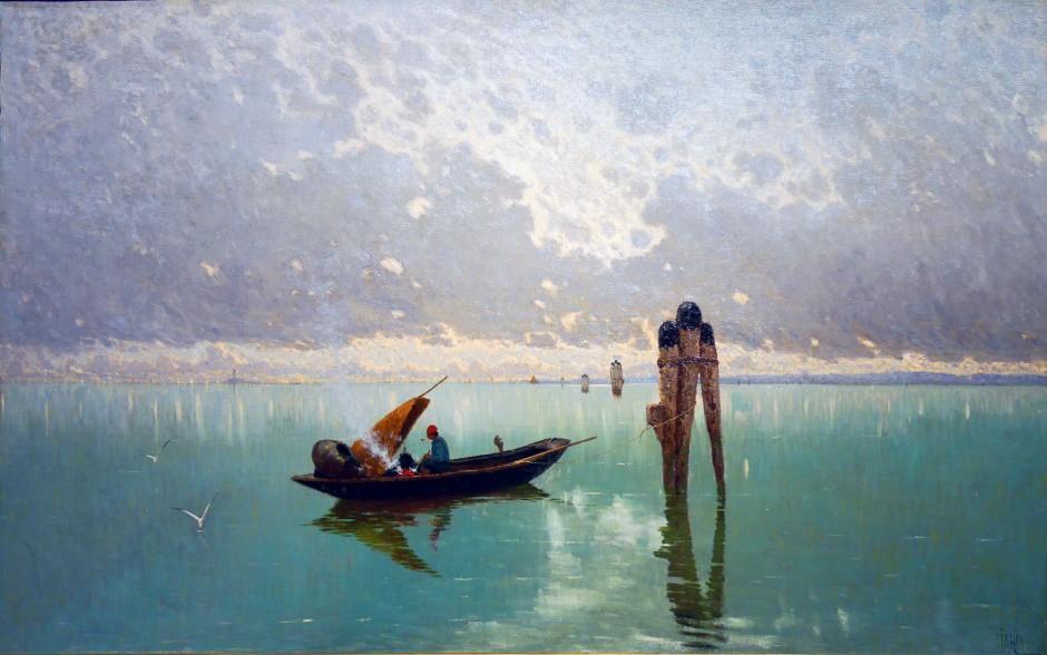 guglielmo ciardi, laguna, 1882